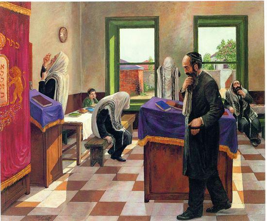 תמונה של הכנה לתפילה