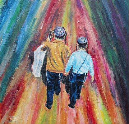 """תמונה של ל""""ג בעומר וילדי ישראל"""